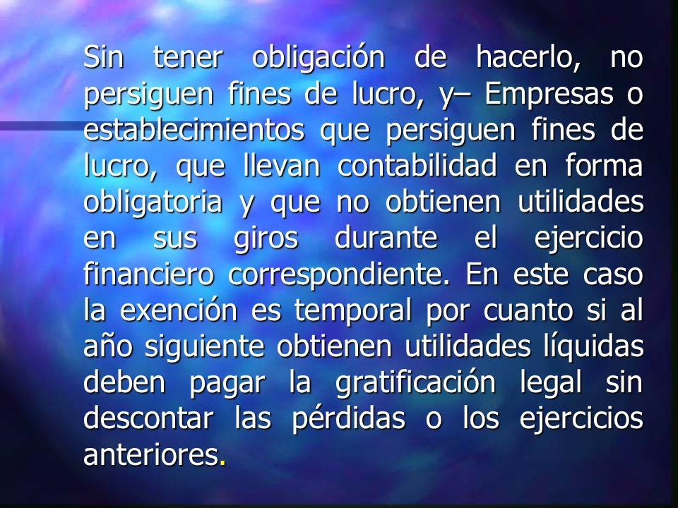 SISTEMAS DE GRATIFICACION LEGAL.