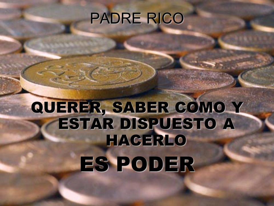 PADRE RICO QUERER, SABER COMO Y ESTAR DISPUESTO A HACERLO ES PODER