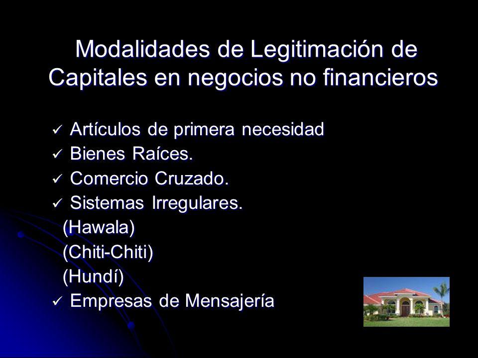 Modalidades de Legitimación de Capitales en negocios no financieros Modalidades de Legitimación de Capitales en negocios no financieros Artículos de p