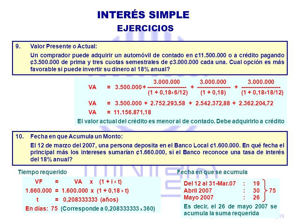 Preparado por: Claudio Urrutia Rojas 3.000.000 3.000.000 3.000.000 VA = 3.500.000 + --------------------- + ------------------ + ---------------------