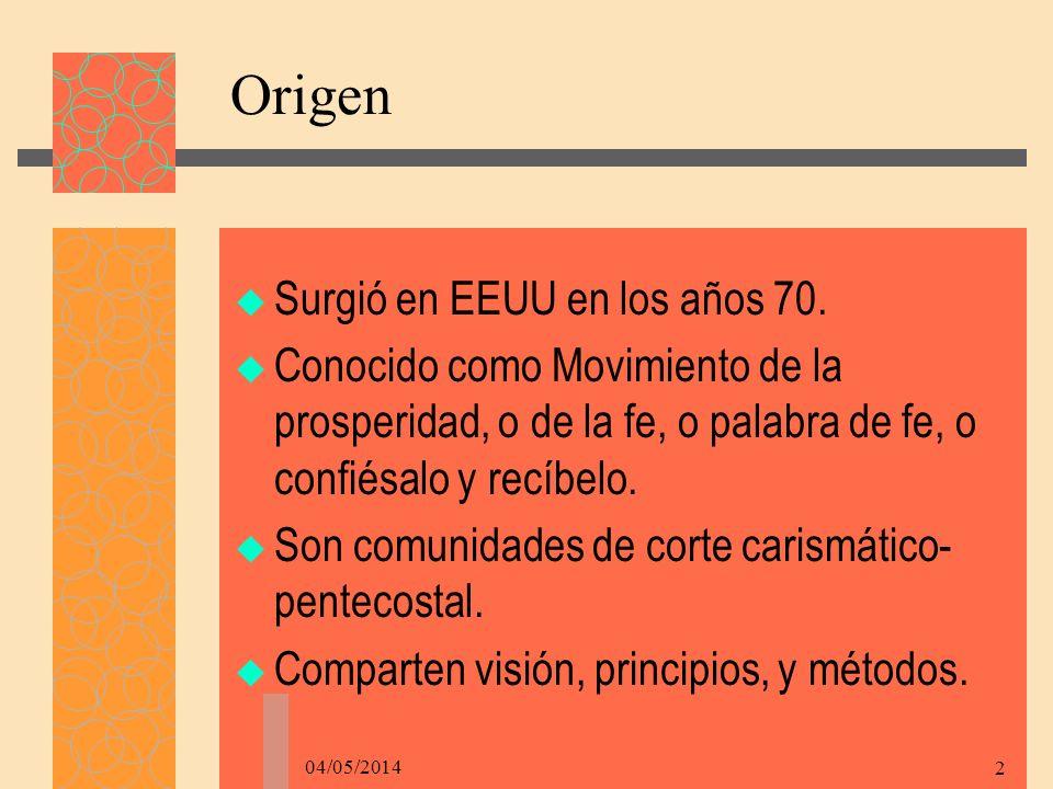 04/05/2014 2 Origen Surgió en EEUU en los años 70.