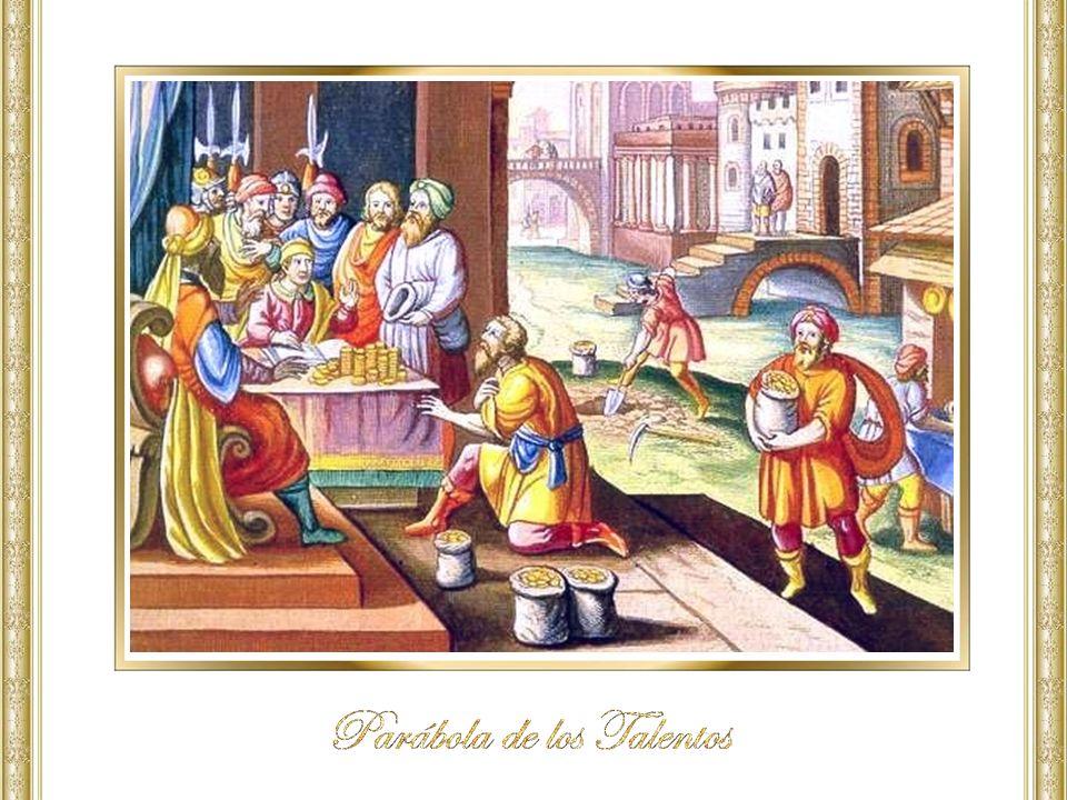 Los dos primeros siervos, son premiados con participación en el reino de Dios, es decir, en el gozo de su Señor, en cambio el siervo perezoso, que actuó con miedo (v.
