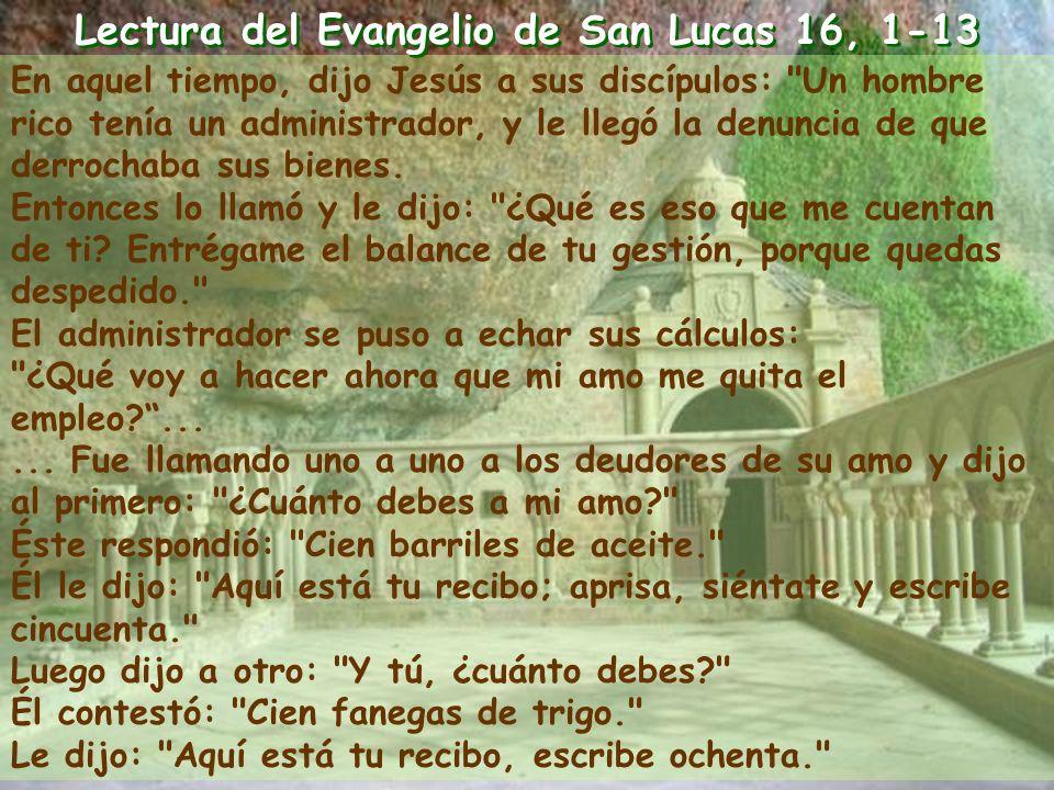25º Domingo del tiempo ordinario 25º Domingo del tiempo ordinario Ciclo C Ciclo C
