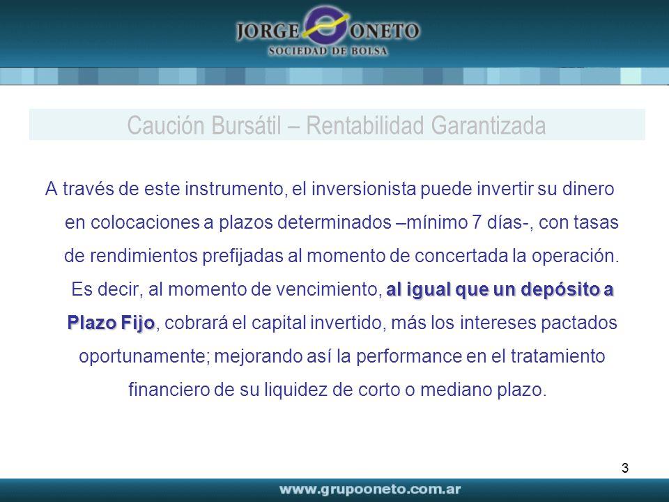 3 al igual que un depósito a Plazo Fijo A través de este instrumento, el inversionista puede invertir su dinero en colocaciones a plazos determinados