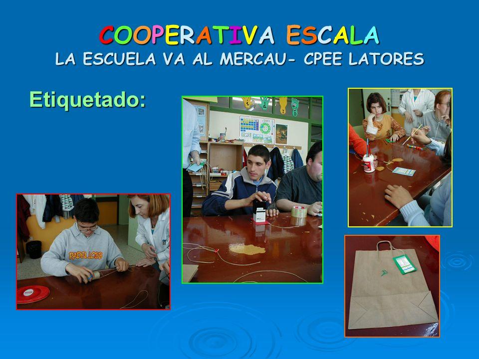 COOPERATIVA ESCALA LA ESCUELA VA AL MERCAU- CPEE LATORES Etiquetado: