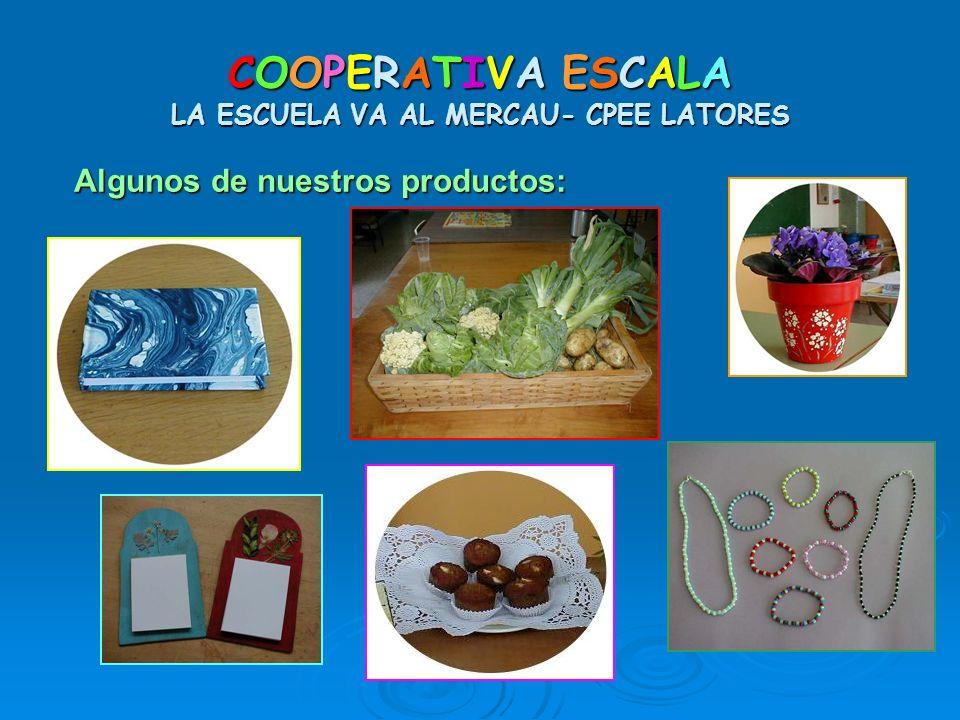 COOPERATIVA ESCALA LA ESCUELA VA AL MERCAU- CPEE LATORES Algunos de nuestros productos: