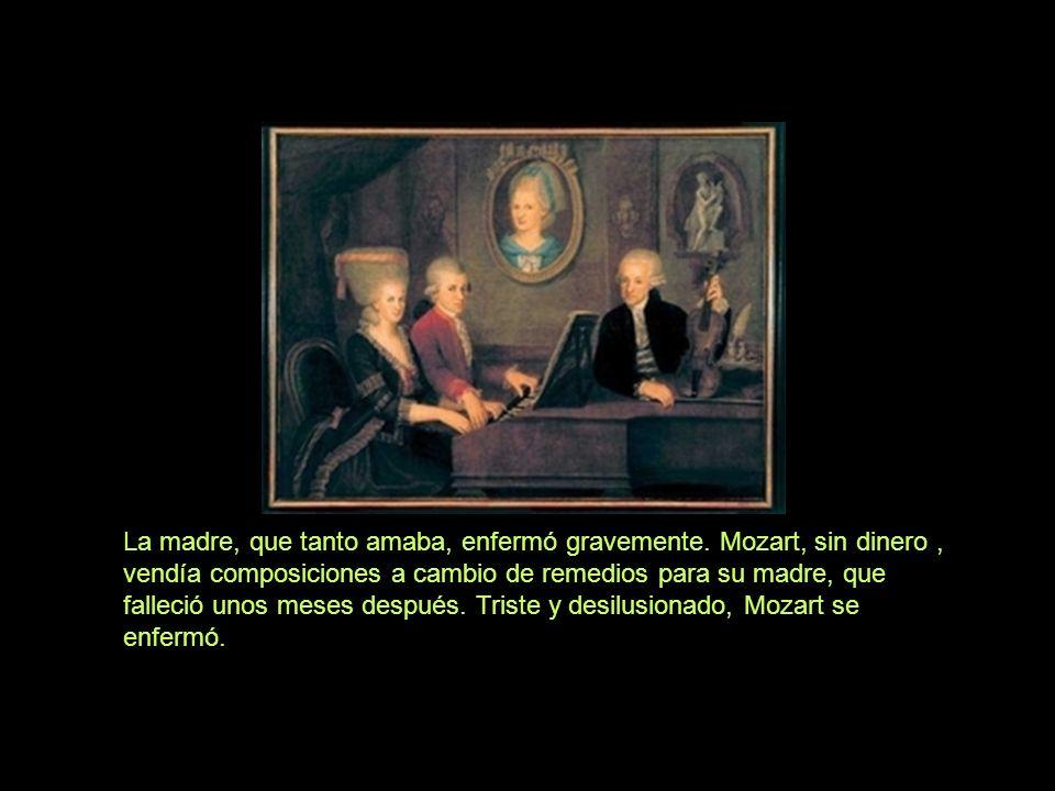 Mozart tuvo varios años de glória, siendo reconocido por reyes y reinas de toda Europa. Pero, nunca supo relacionarse con el dinero. La explotación de