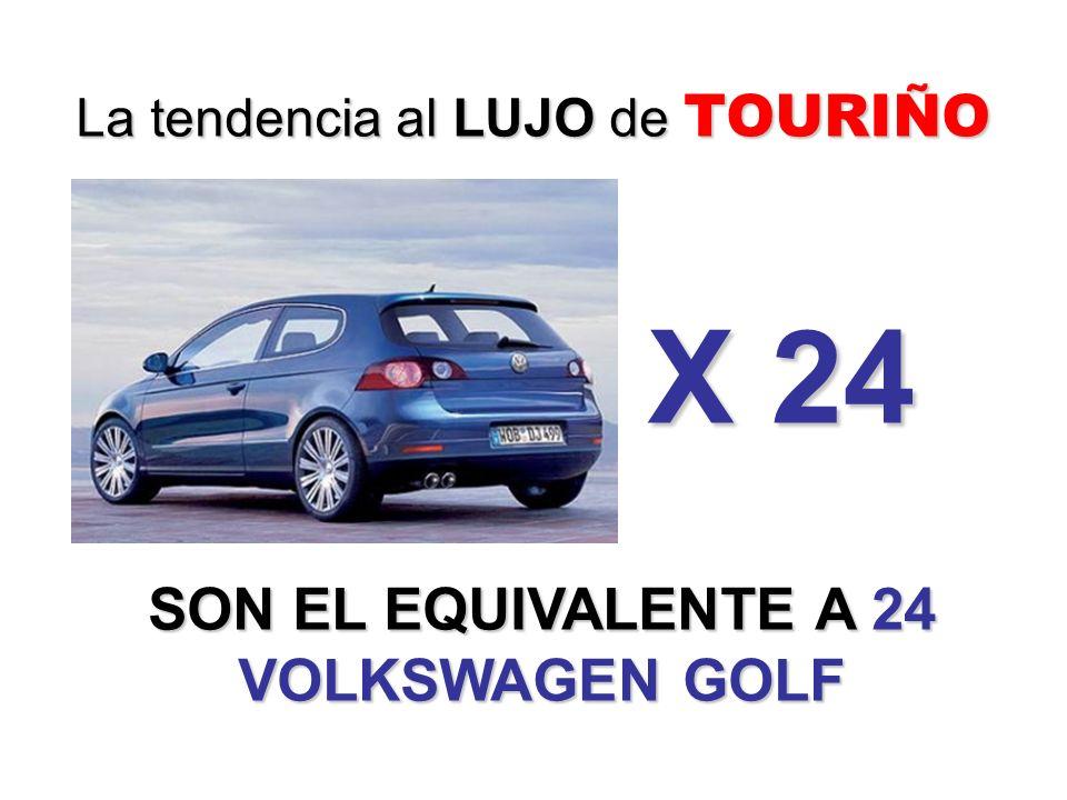 SON EL EQUIVALENTE A 24 VOLKSWAGEN GOLF La tendencia al LUJO de TOURIÑO X 24
