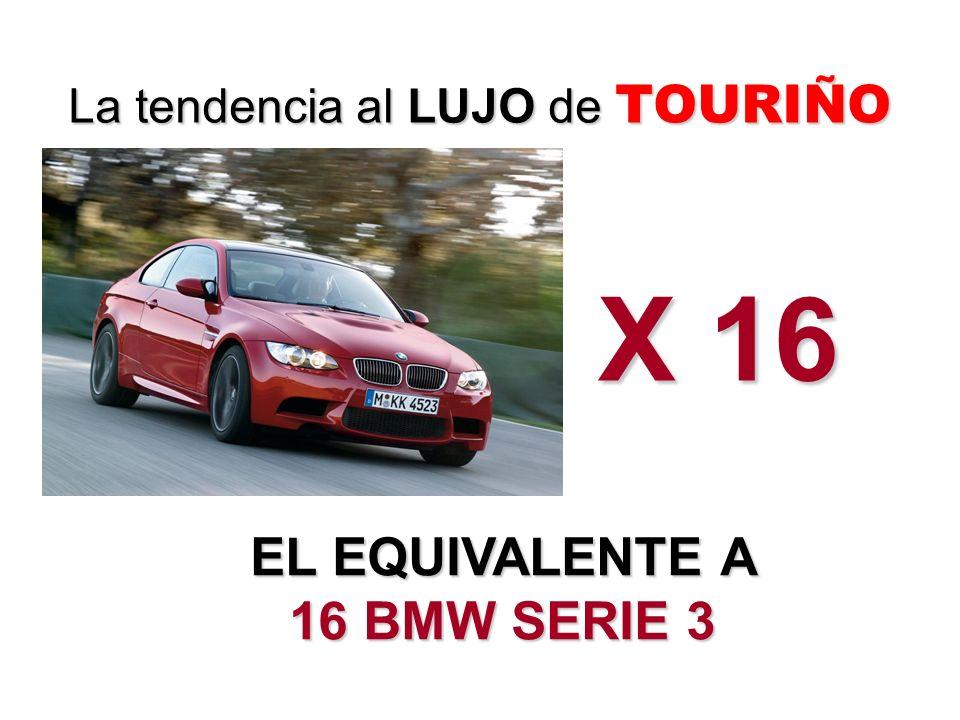 EL EQUIVALENTE A 16 BMW SERIE 3 La tendencia al LUJO de TOURIÑO X 16