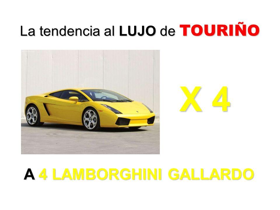 A 4 LAMBORGHINI GALLARDO La tendencia al LUJO de TOURIÑO X 4