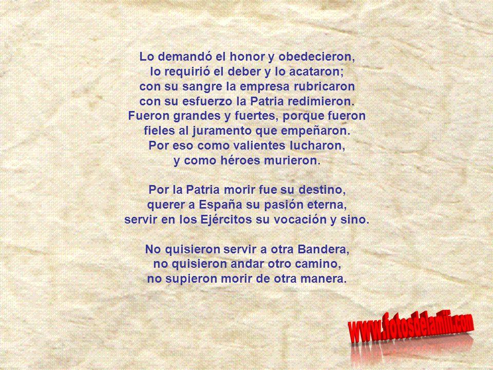 ¡¡HONOR Y GLORIA A LOS QUE DIERON LA VIDA POR ESPAÑA!! Canción La muerte no es el final