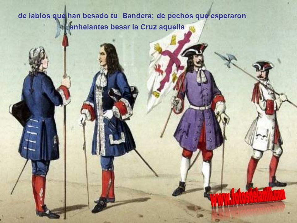 De los que amor y vida te consagran escucha, España, la canción guerrera, canción que brota de almas que son tuyas,