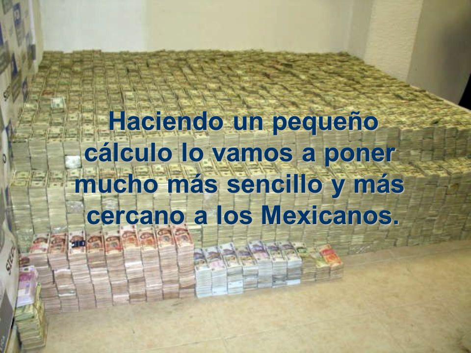 Haciendo un pequeño cálculo cálculo lo vamos a poner mucho más más sencillo y másmásmásmás cercano a los Mexicanos.