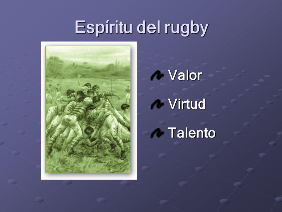 Juego (NO opinable) (opinable) Espíritu 1900 – 1987*. La época dorada del rugby
