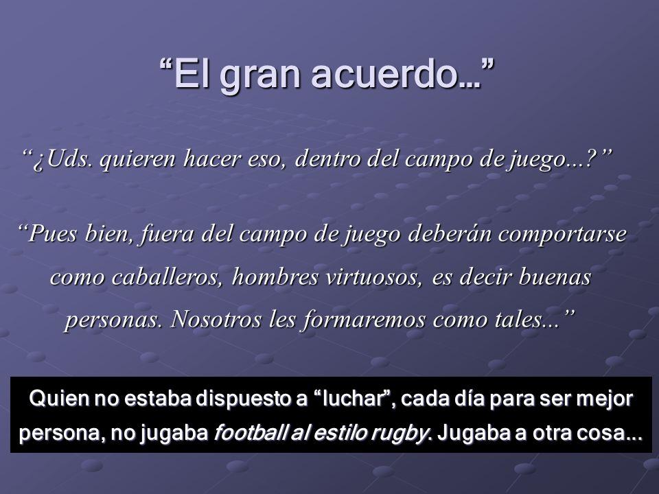 Espíritu del rugby Valor Valor Virtud Virtud Talento Talento