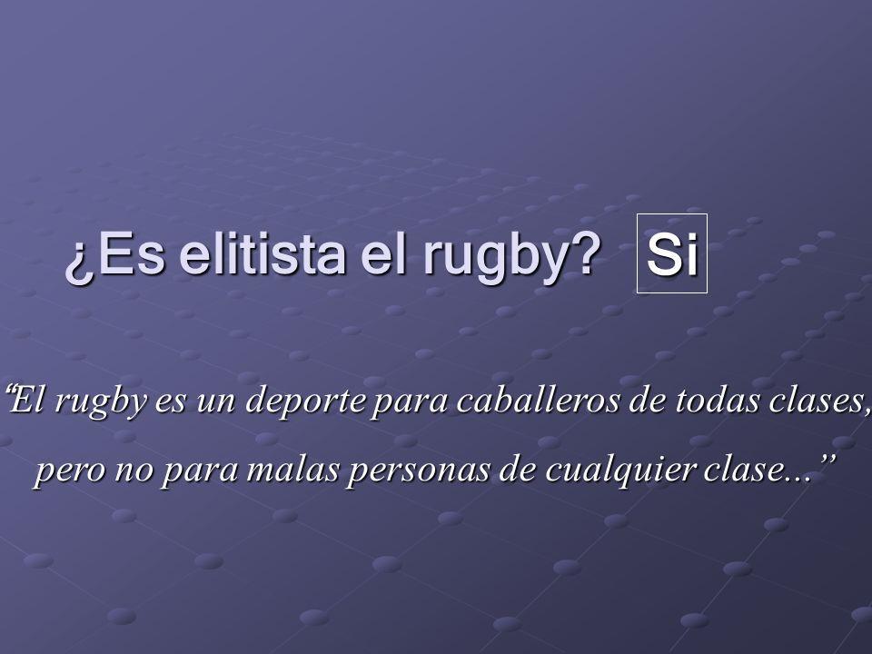 ¿Es elitista el rugby.