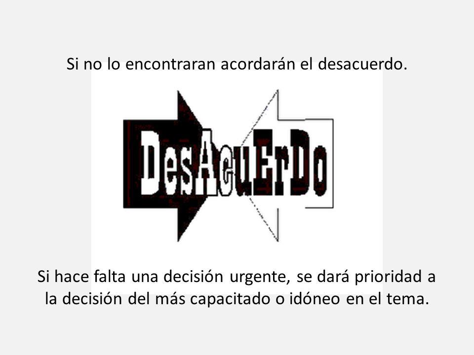 6- Disputas: Los desacuerdos no serán considerados nefastos. Dado que se trata de dos individuos diferentes, se da por sentado que habrá desacuerdos.