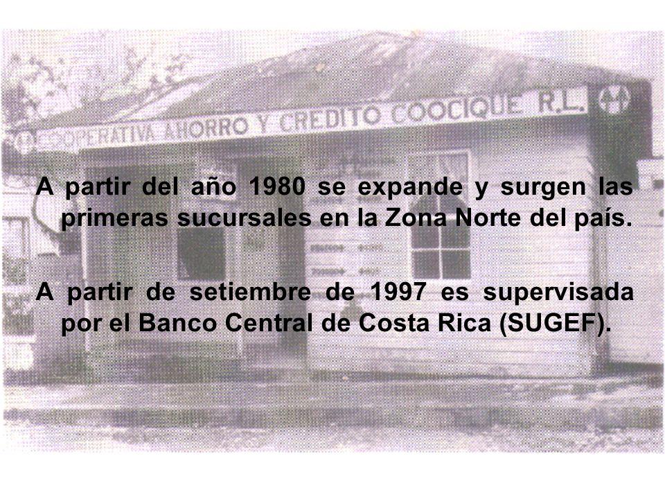A partir del año 1980 se expande y surgen las primeras sucursales en la Zona Norte del país. A partir de setiembre de 1997 es supervisada por el Banco