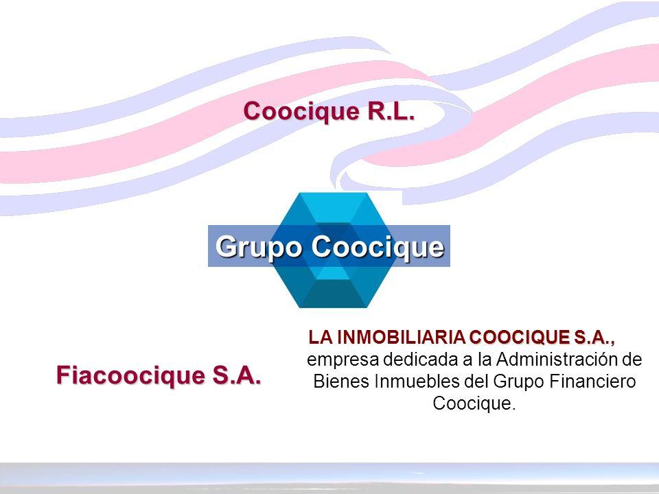 COOCIQUE S.A LA INMOBILIARIA COOCIQUE S.A., empresa dedicada a la Administración de Bienes Inmuebles del Grupo Financiero Coocique. Grupo Coocique Gru