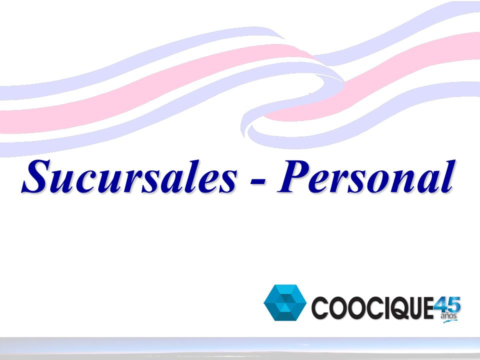 Sucursales - Personal
