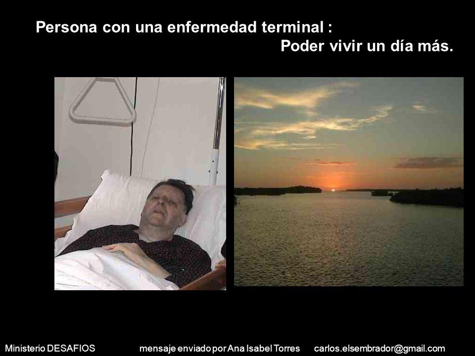 Ministerio DESAFIOS mensaje enviado por Ana Isabel Torres carlos.elsembrador@gmail.com Inválido: Correr en una mañana soleada.