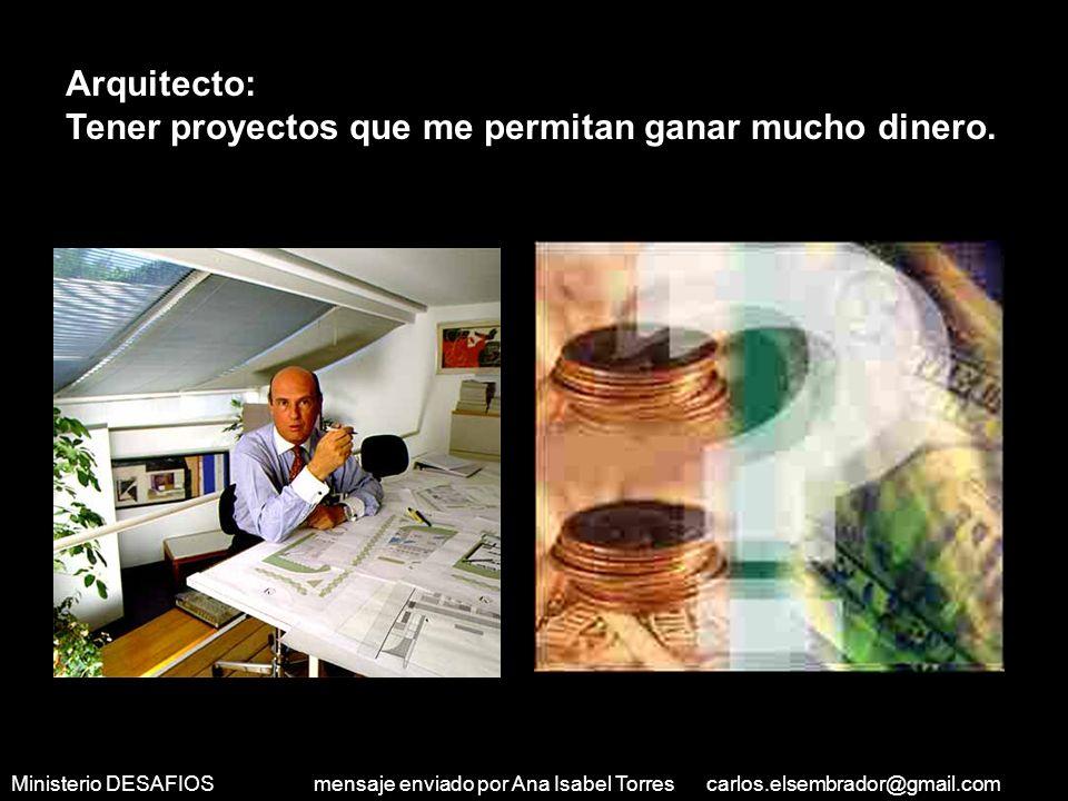 Ministerio DESAFIOS mensaje enviado por Ana Isabel Torres carlos.elsembrador@gmail.com A dos grupos de personas se les hizo esa pregunta El primer gru