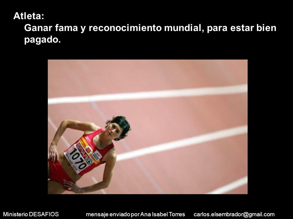 Ministerio DESAFIOS mensaje enviado por Ana Isabel Torres carlos.elsembrador@gmail.com Gerente: Tener la empresa en niveles de ganancia altos y crecie