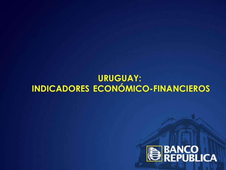 URUGUAY: INDICADORES ECONÓMICO-FINANCIEROS