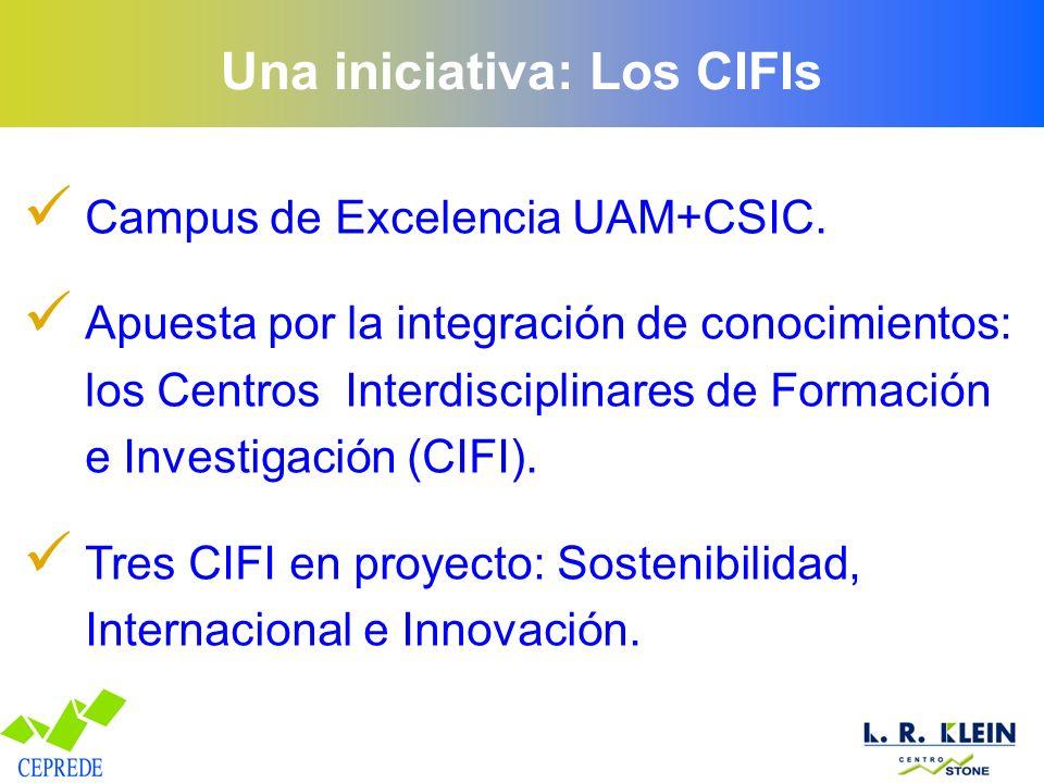 Una iniciativa: Los CIFIs Campus de Excelencia UAM+CSIC. Apuesta por la integración de conocimientos: los Centros Interdisciplinares de Formación e In