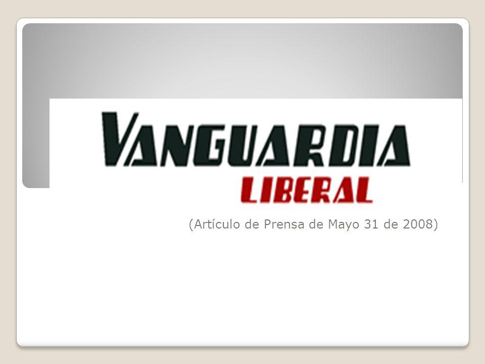 (Artículo de Prensa de Mayo 31 de 2008)