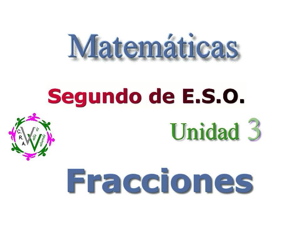 Comprender y utilizar los distintos conceptos de fracción.