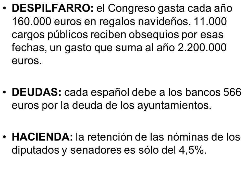 Descontrol: es tal en la administración de fondos públicos que en España no hay ni una sola institución que conozca cuántos políticos cobran del Estad