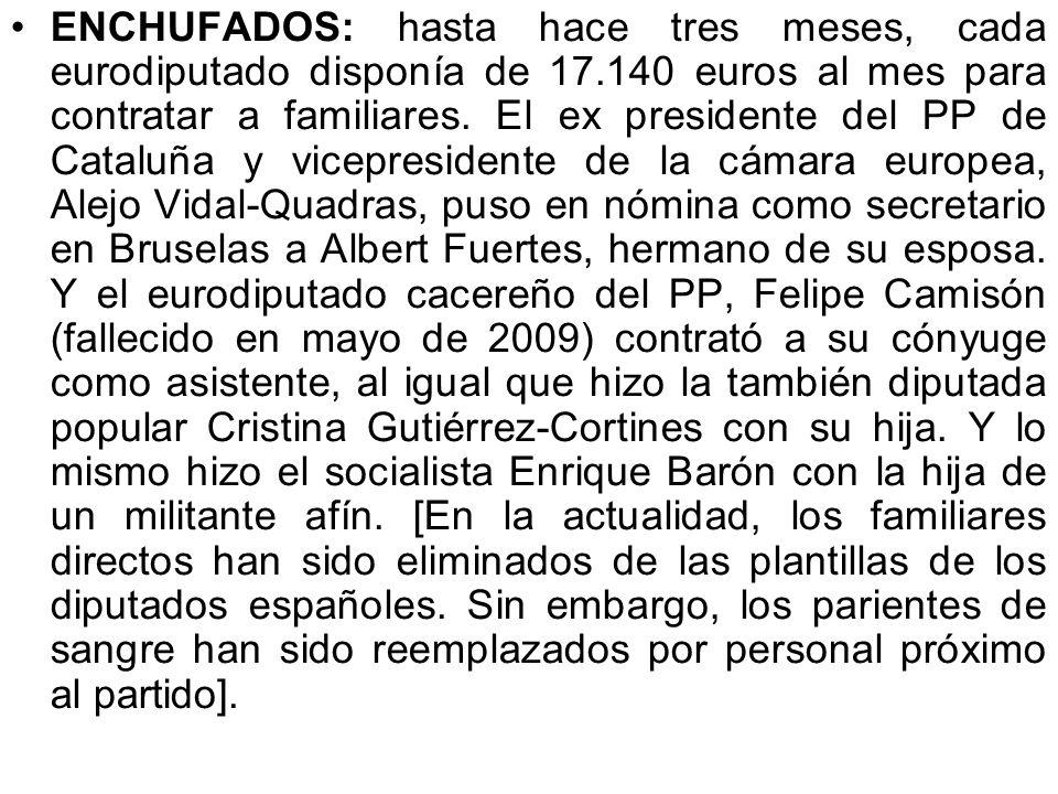 Morosos: los miembros de La Casta invirtieron 66,6 millones de euros en la celebración de las elecciones general de 2008. De ese dinero, 44 millones f
