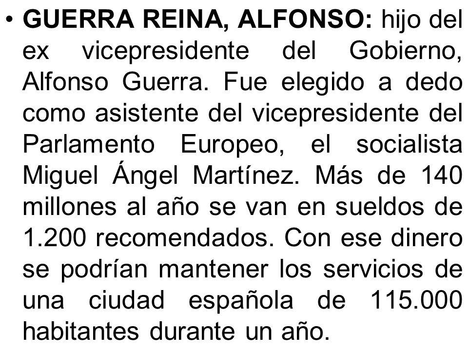 Chaves, Manuel: cobra al año 81.155 euros por ser ministro más una indemnización de 46.000 al año por abandonar la presidencia de Andalucía. O sea, 12