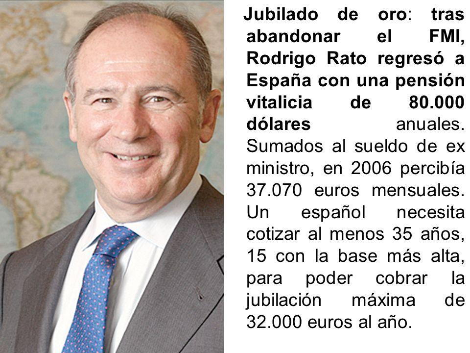 BONO, JOSÉ: entre sueldo y complementos, el presidente del Congreso cobra 13.856 euros al mes: 3.126 por diputado, 3.605 como complemento, 3.915 para