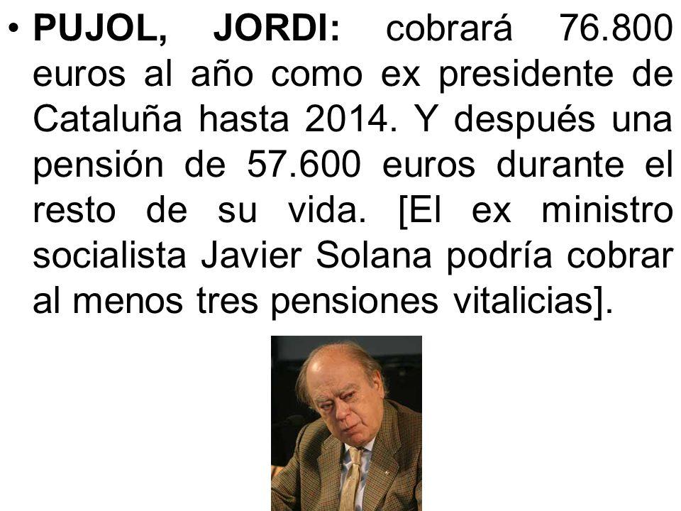 Rajoy, Mariano: se embolsa cada mes 8.996 euros (sin contar otros complementos): 3.126 por ser diputado, 870 para alojamiento (más que el salario míni