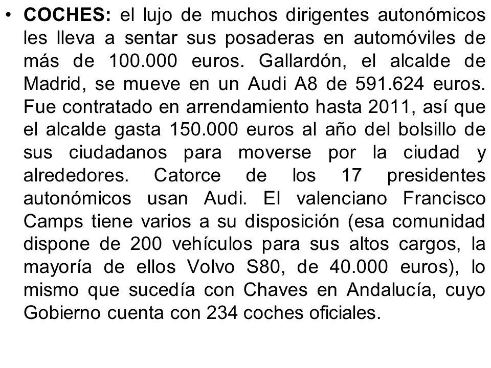 AVIONES: los diputados pueden utilizar a su antojo con cargo a las arcas del Estado aviones, trenes o barcos. Disponen de 5.000.000 de euros al año pa
