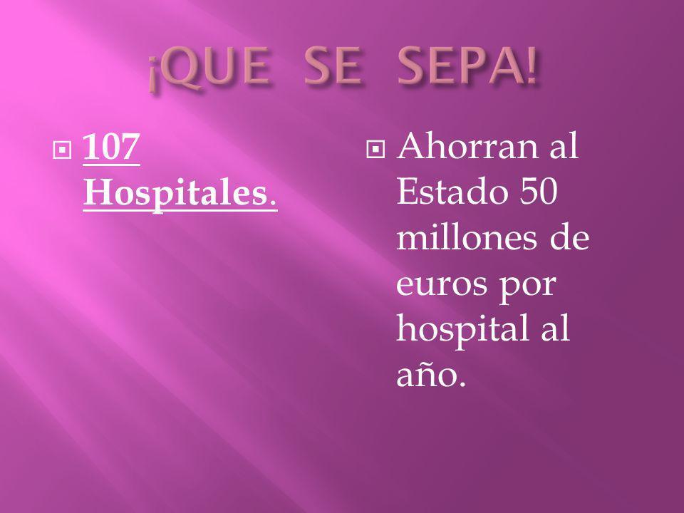 1.004 centros, entre ambulatorios, dispensarios, asilos, centros de minusválidos, de transeúntes y de enfermos terminales de Sida, un total de 51.312 camas.