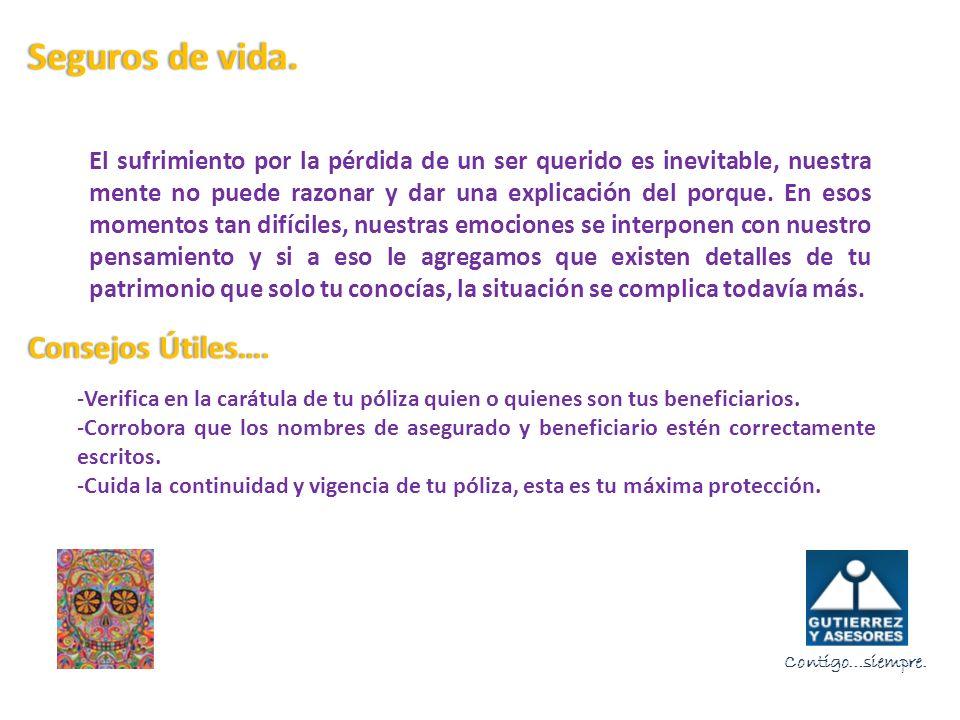 S olo el 27% de los Mexicanos cuenta con un servicio para cubrir los gastos que se generan al fallecer una persona.