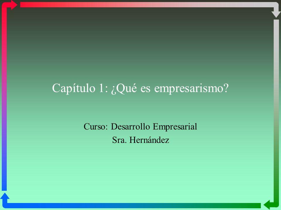 Capítulo 1: ¿Qué es empresarismo? Curso: Desarrollo Empresarial Sra. Hernández