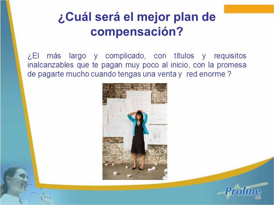 ¿Cuál será el mejor plan de compensación? ¿El más largo y complicado, con títulos y requisitos inalcanzables que te pagan muy poco al inicio, con la p