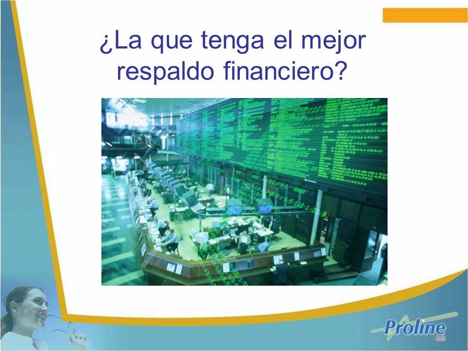 ¿La que tenga el mejor respaldo financiero?