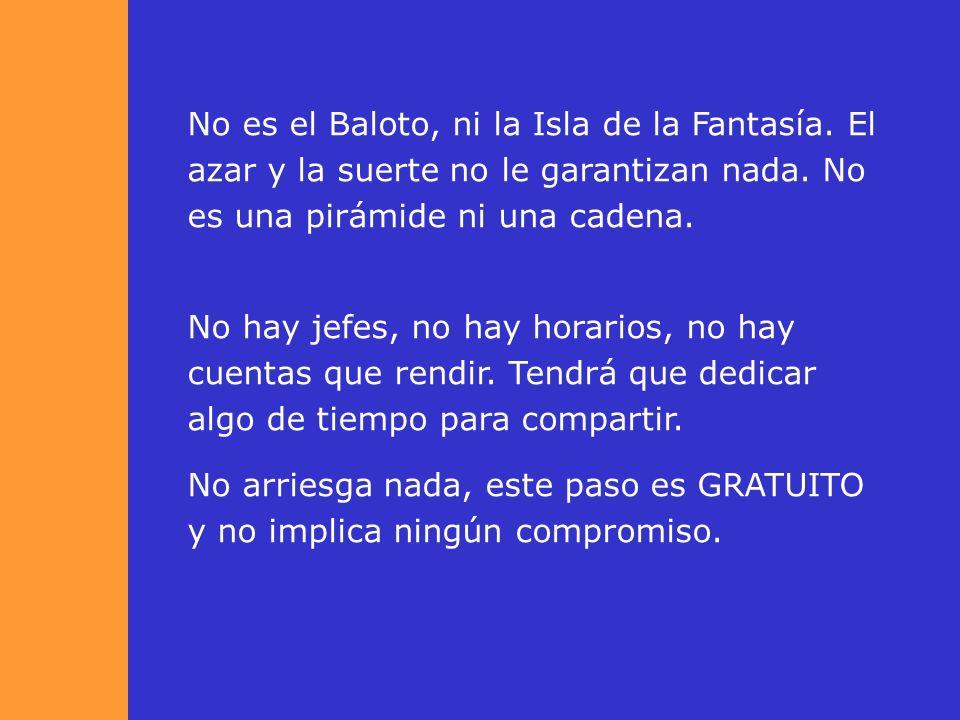 No es el Baloto, ni la Isla de la Fantasía.El azar y la suerte no le garantizan nada.