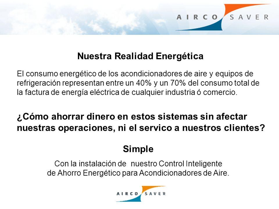 Ahorros basados en la instalación del Aircosaver en un Acondicionador de Aire con una eficiencia de 9 EER, trabajando 6 días a la semana, a un 75% de capacidad y a un costo de energía de $ 0.19 Kw·h.