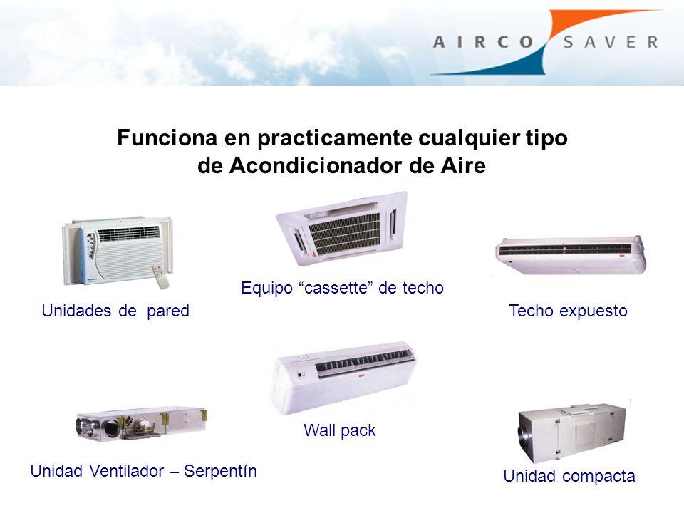 Operación y Mecánica de un Típico Acondicionador de Aire Cuando encendemos un típico acondicionador de aire, el mismo opera continuamente hasta que el termostato de la habitación percibe la temperatura deseada y apaga el compresor.