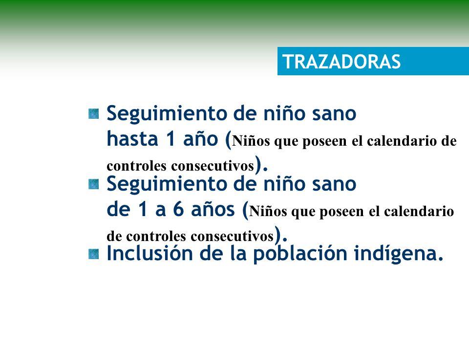 Seguimiento de niño sano de 1 a 6 años ( Niños que poseen el calendario de controles consecutivos ).