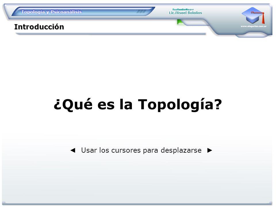 Realizado Por ¿Qué es la Topología? Introducción Usar los cursores para desplazarse