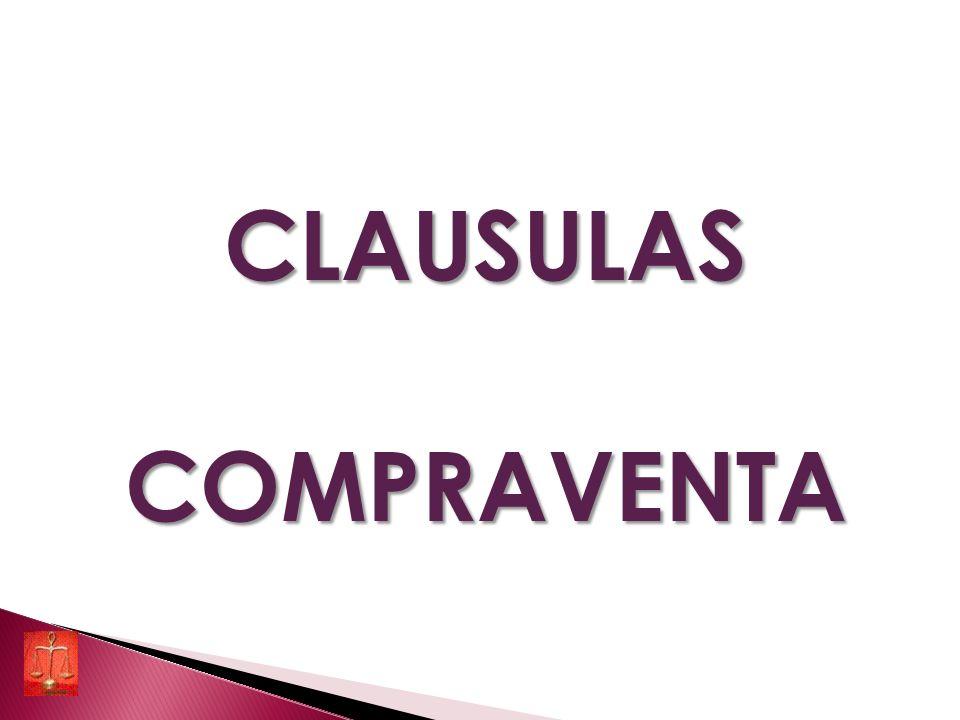 CLAUSULASCOMPRAVENTA