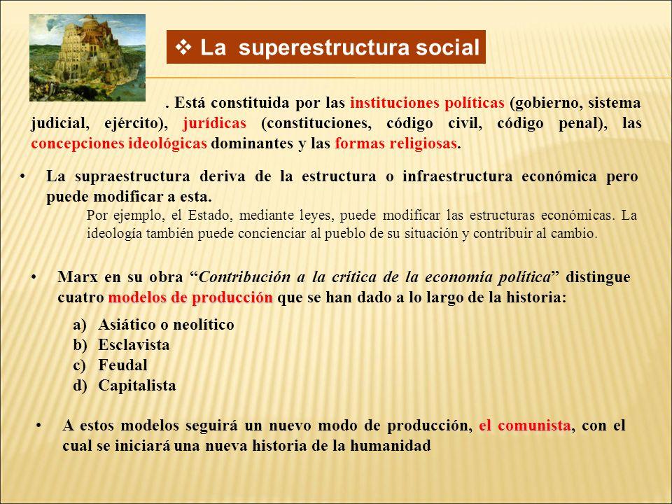 La superestructura social.