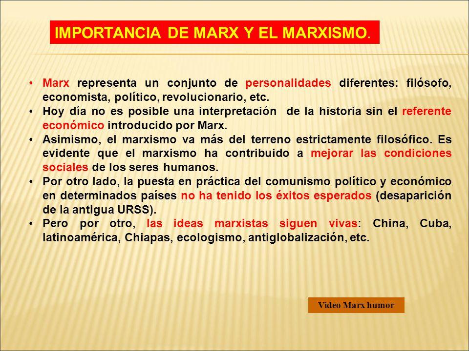 IMPORTANCIA DE MARX Y EL MARXISMO.